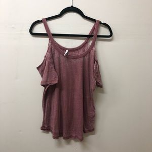 Zsupply cold shoulder top